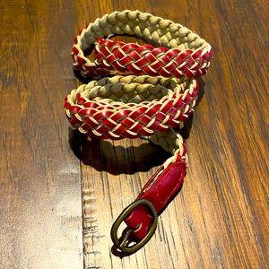 💥 2 FOR 1 BELTS 💥 GAP read leather weaved belt